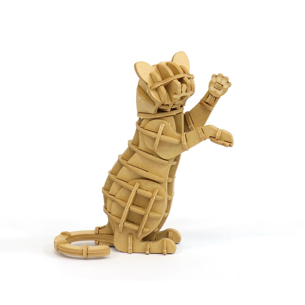 JIGZLE|3D紙拼圖 站立的貓