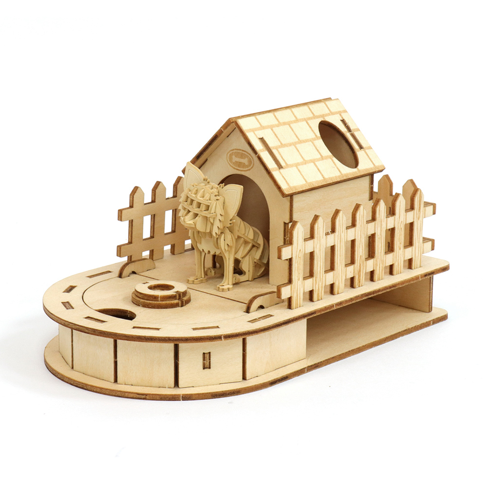 JIGZLE 3D木拼圖 迷你收納狗屋 + 紙吉娃娃