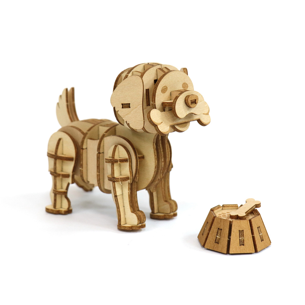 JIGZLE|3D木拼圖 黃金獵犬