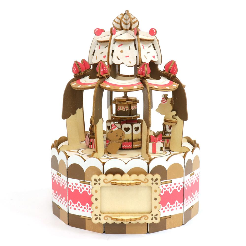 JIGZLE|3D木拼圖 彩色音樂盒-蛋糕派對