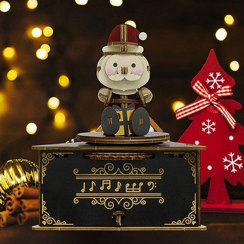 JIGZLE|3D木拼圖 彩色聖誕節音樂盒-聖誕老公公