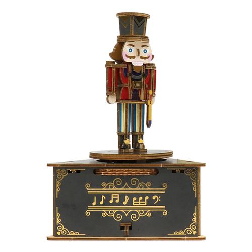 JIGZLE|3D木拼圖 彩色聖誕節音樂盒-胡桃鉗
