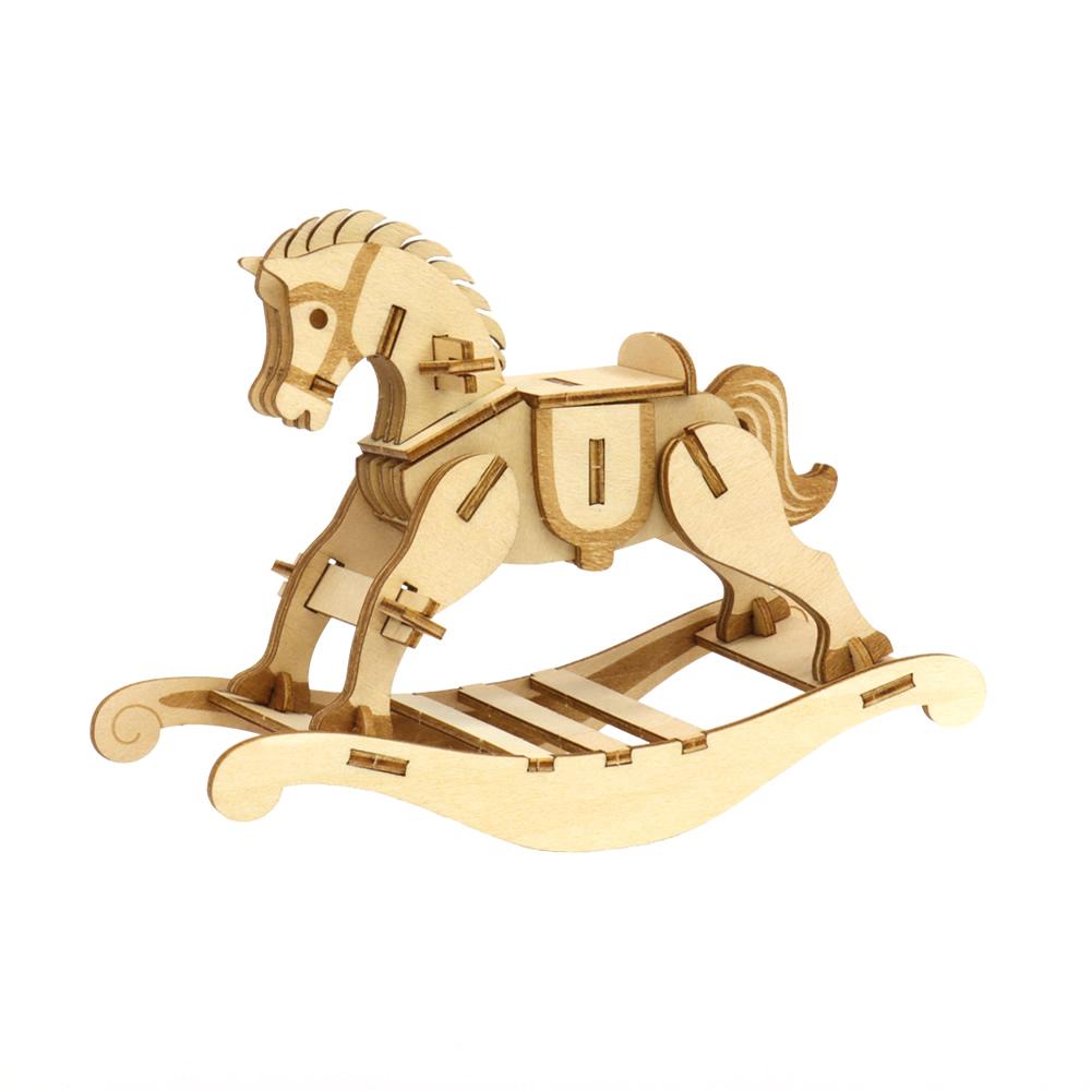 JIGZLE|3D木拼圖 木馬