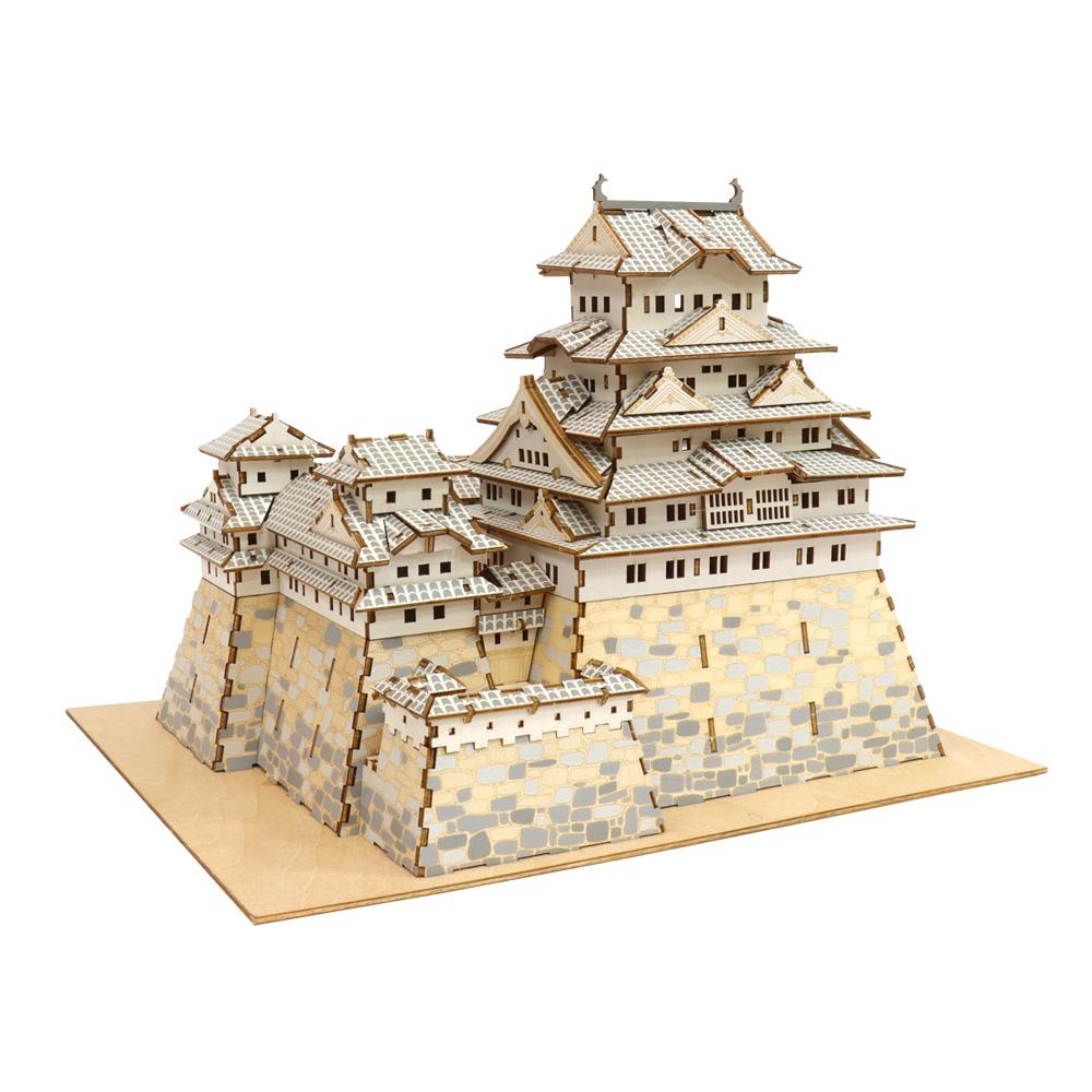 JIGZLE|3D木拼圖 彩色姬路城