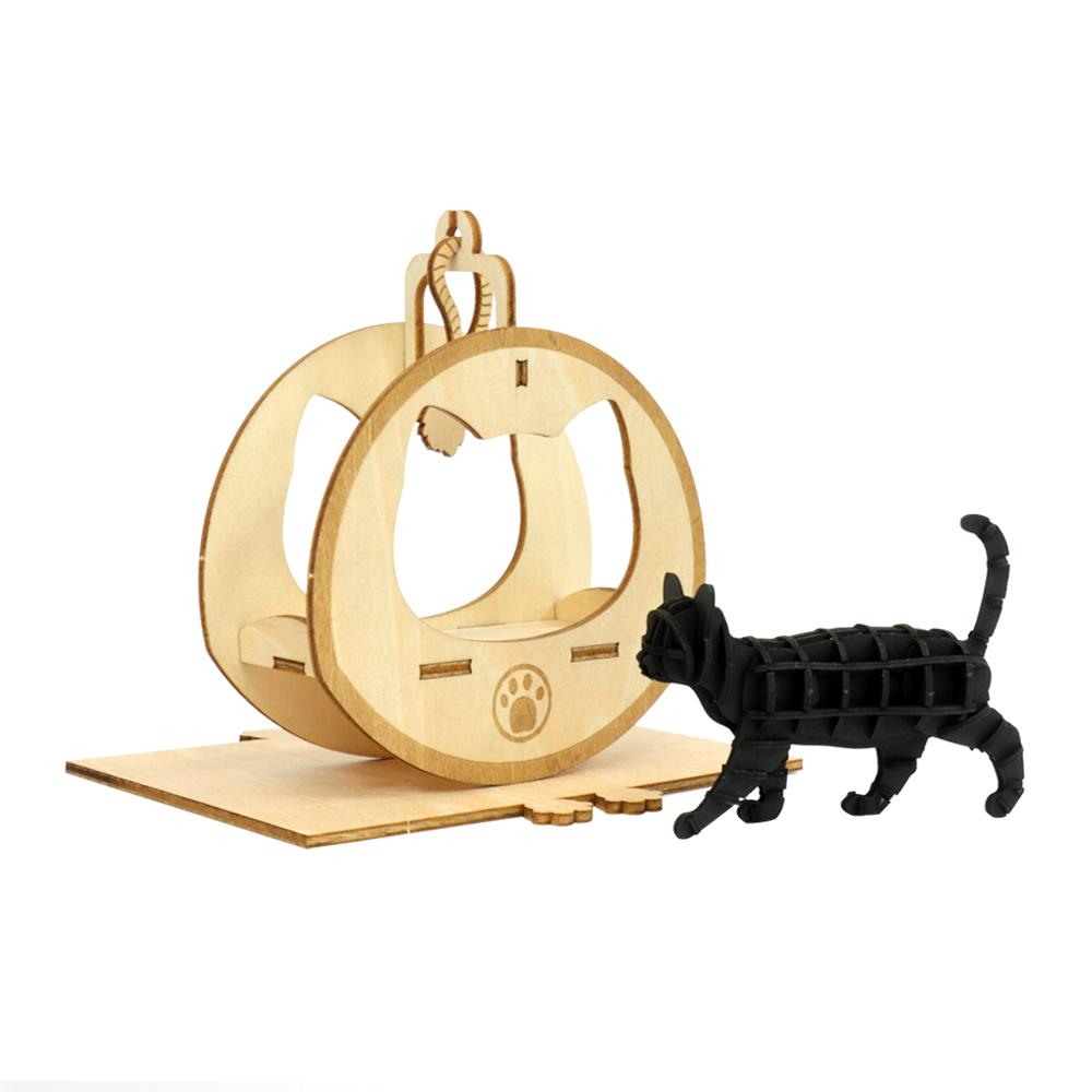 JIGZLE 3D木拼圖 貓咪樂園+紙步行貓