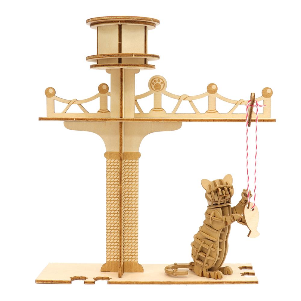 JIGZLE|3D木拼圖 貓咪樂園+紙招手貓