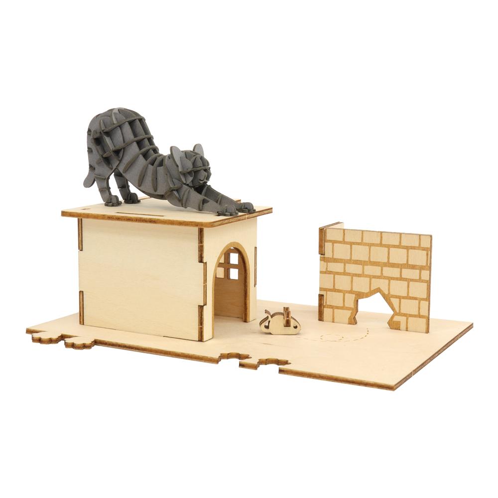 JIGZLE 3D木拼圖 貓咪樂園+紙慵懶貓
