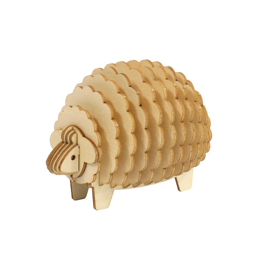 JIGZLE|3D木拼圖 綿羊