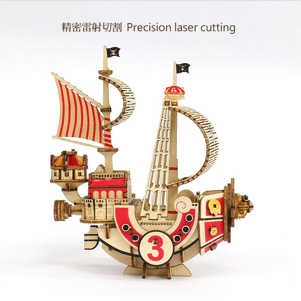 JIGZLE|3D-木拼圖- 海賊王 ONE PIECE-  千陽號 Thousand Sunny