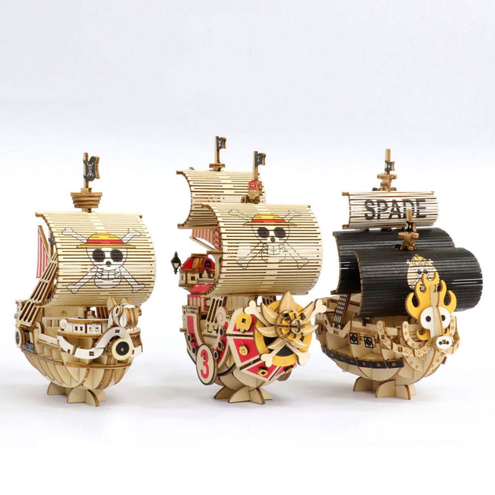 JIGZLE|3D-木拼圖- 海賊王 ONE PIECE- 收藏家三件組