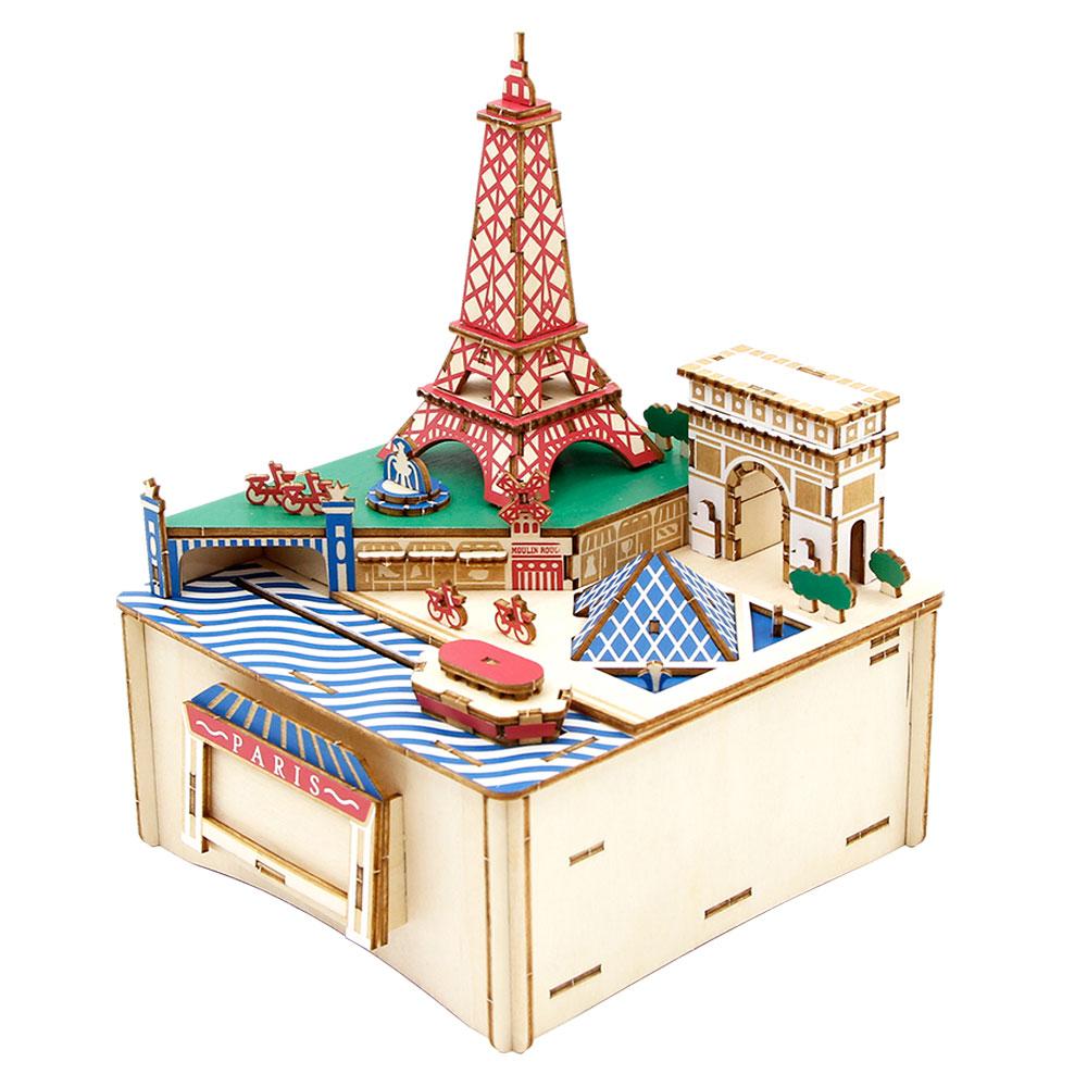 JIGZLE|3D-木拼圖 彩色音樂盒-巴黎
