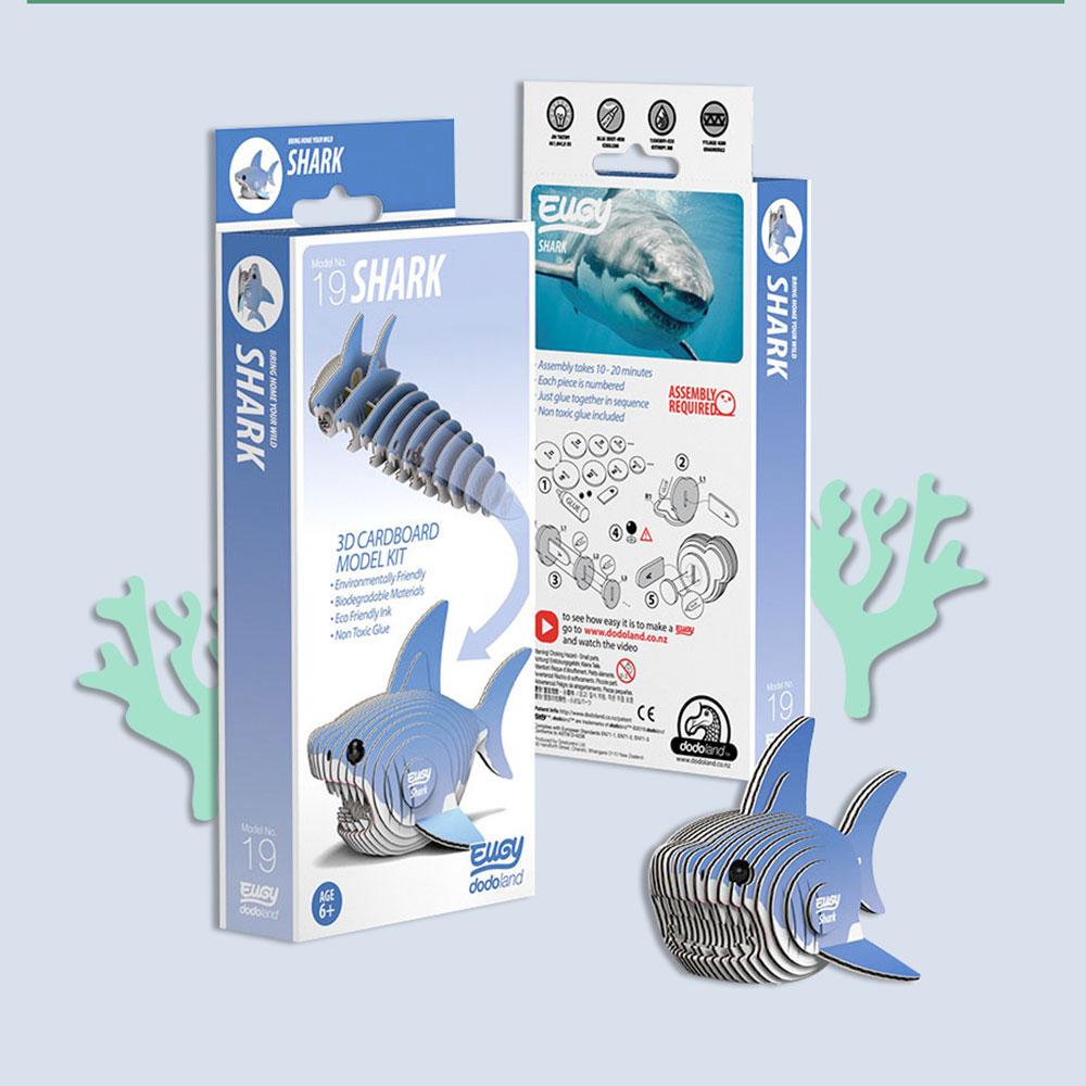 EUGY|3D紙板拼圖-鯊魚