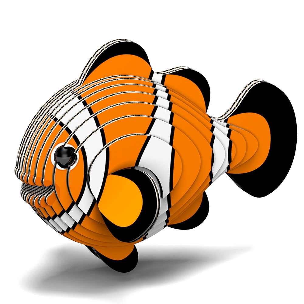 EUGY 3D紙板拼圖-小丑魚