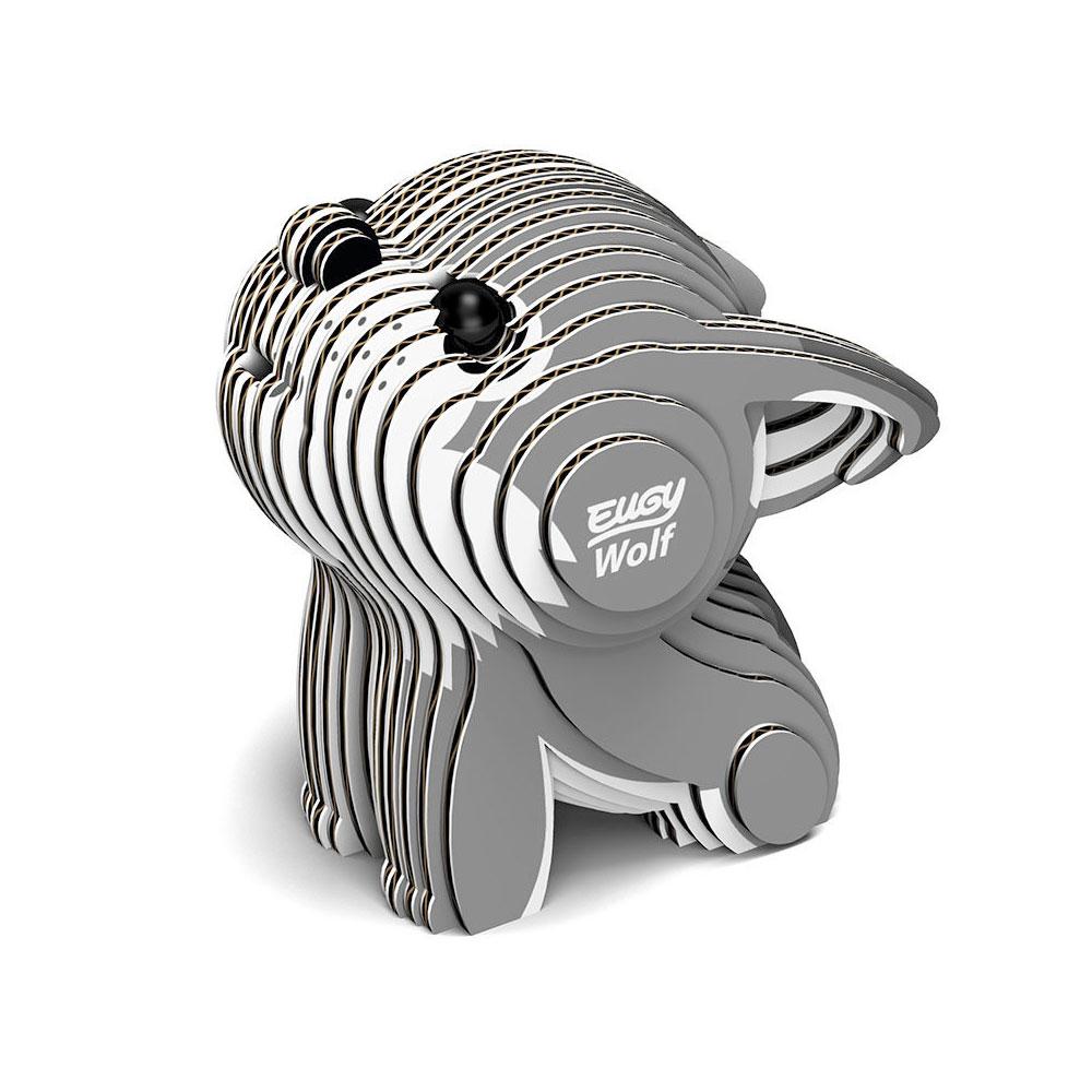 EUGY 3D紙板拼圖-狼