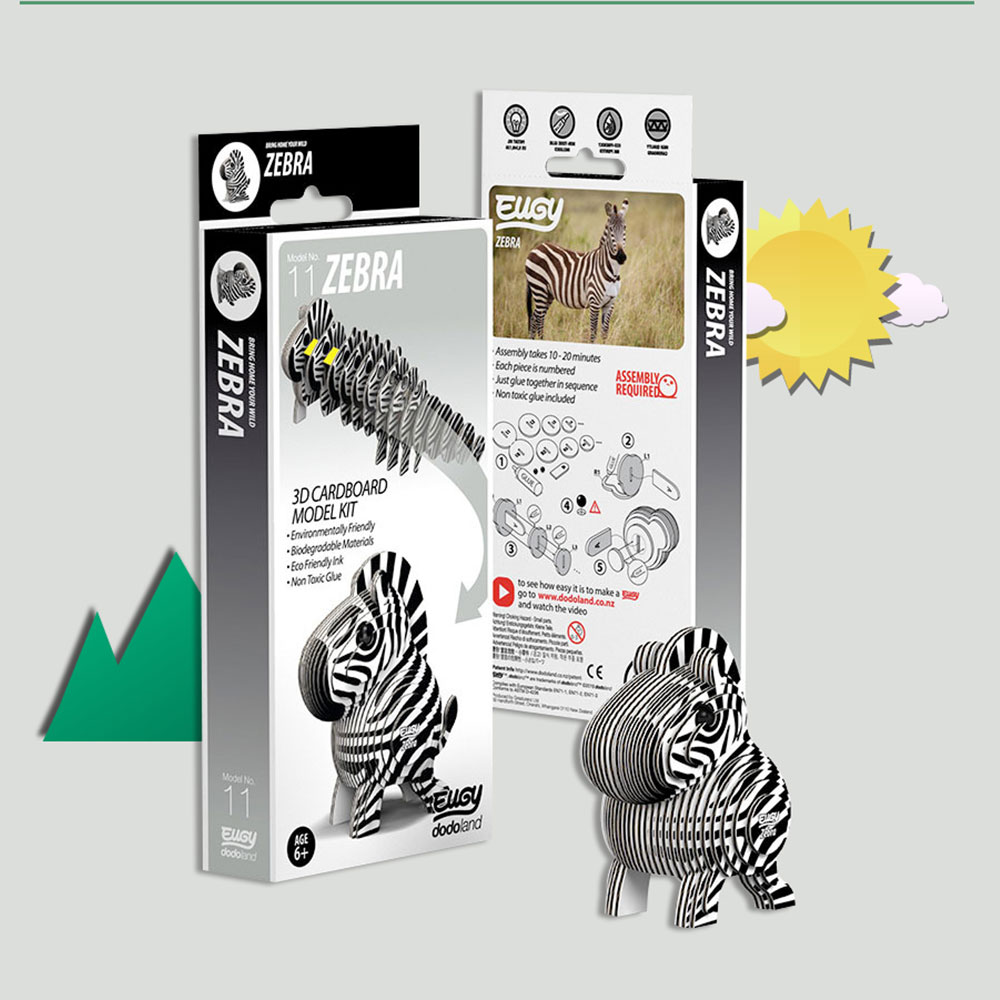 EUGY|3D紙板拼圖-斑馬