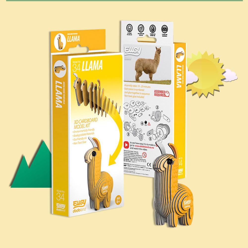 EUGY 3D紙板拼圖-羊駝