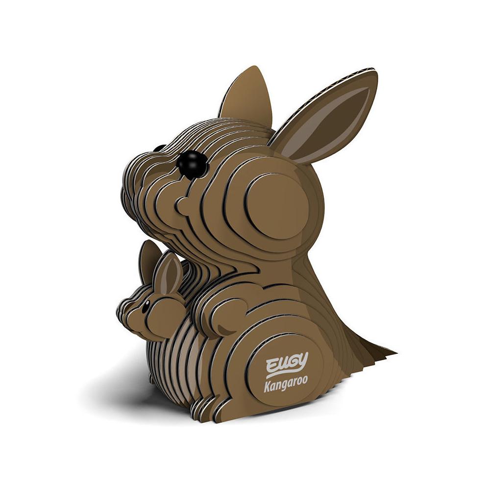 EUGY 3D紙板拼圖-袋鼠