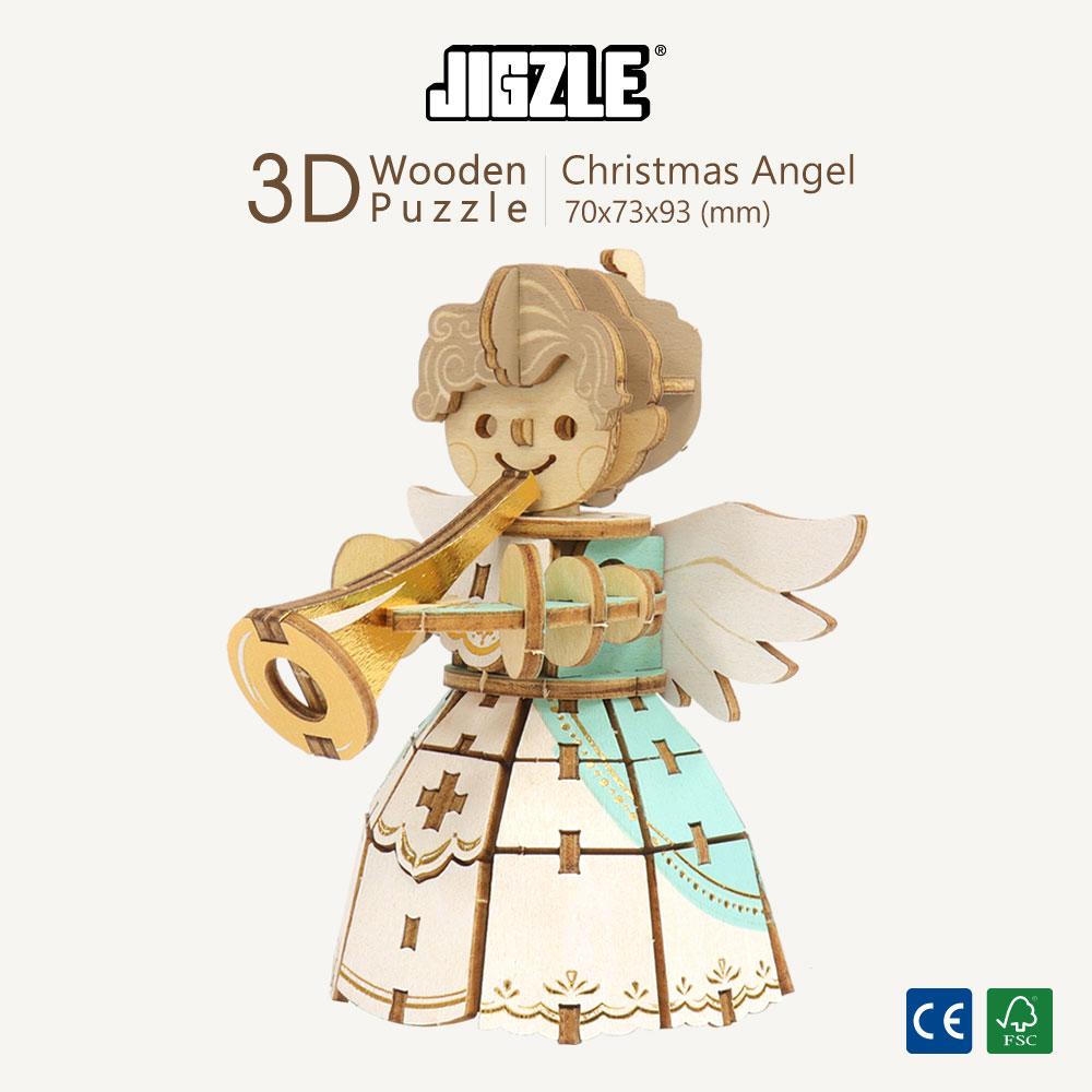 JIGZLE|3D木拼圖 彩色聖誕天使