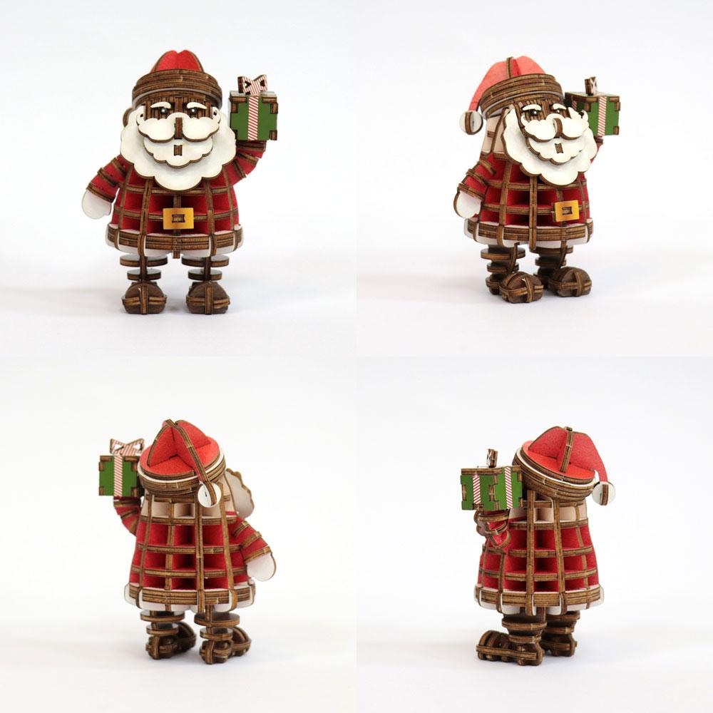 JIGZLE|3D木拼圖 彩色聖誕老人