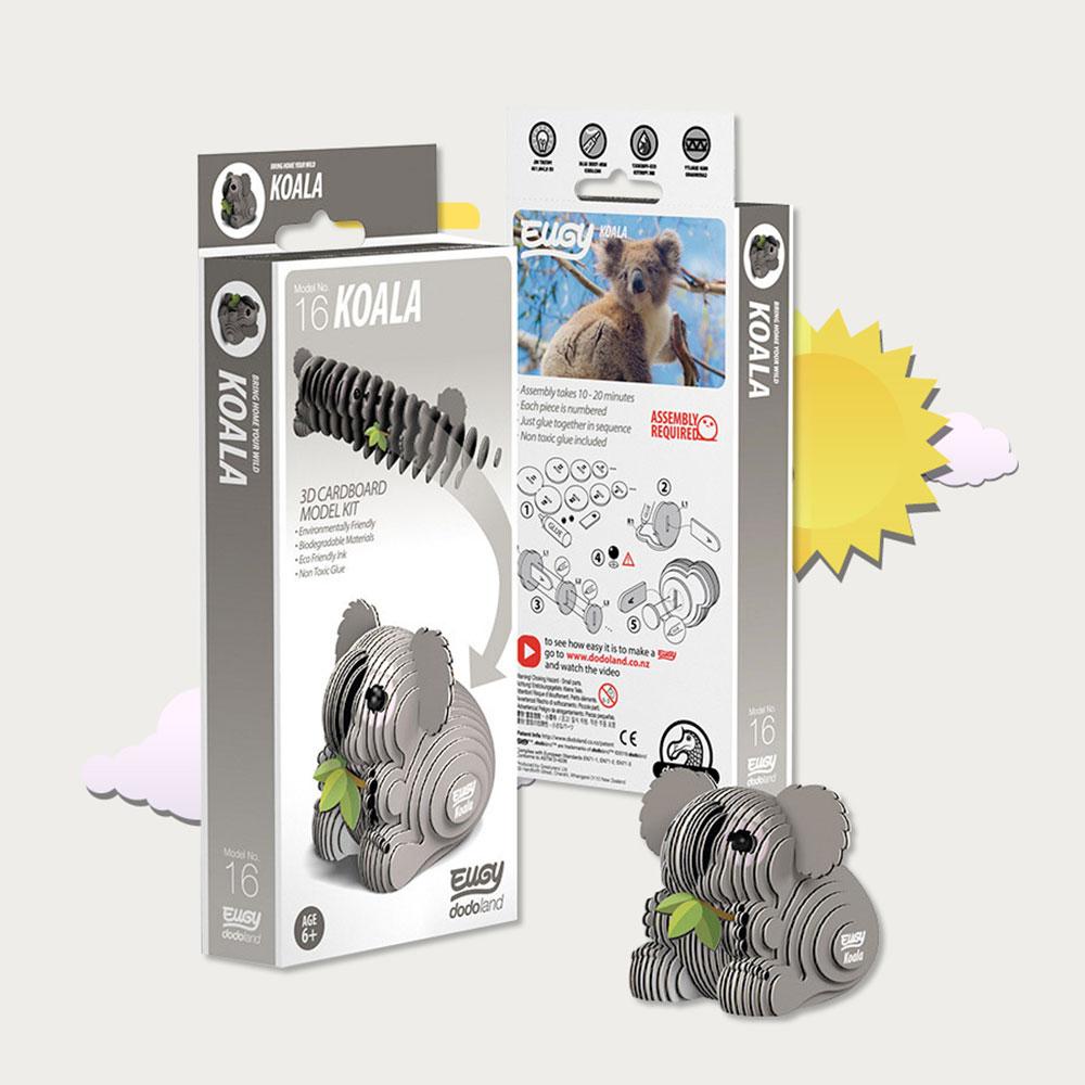 EUGY|3D紙板拼圖-無尾熊