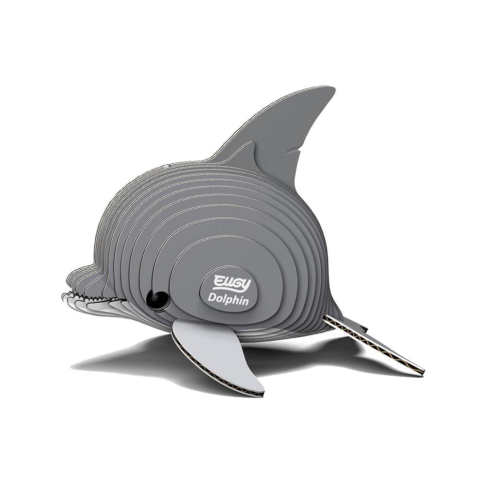 EUGY|3D紙板拼圖-海豚