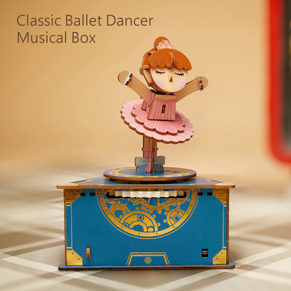 JIGZLE|3D木拼圖 彩色音樂盒-經典芭蕾舞
