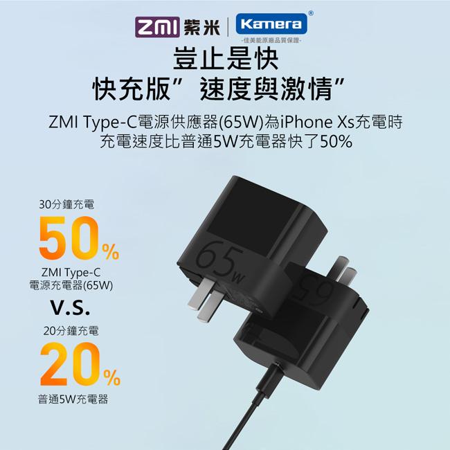 ZMI 紫米|HA712 65W PD充電器套裝 (黑色) (含Type-C線)