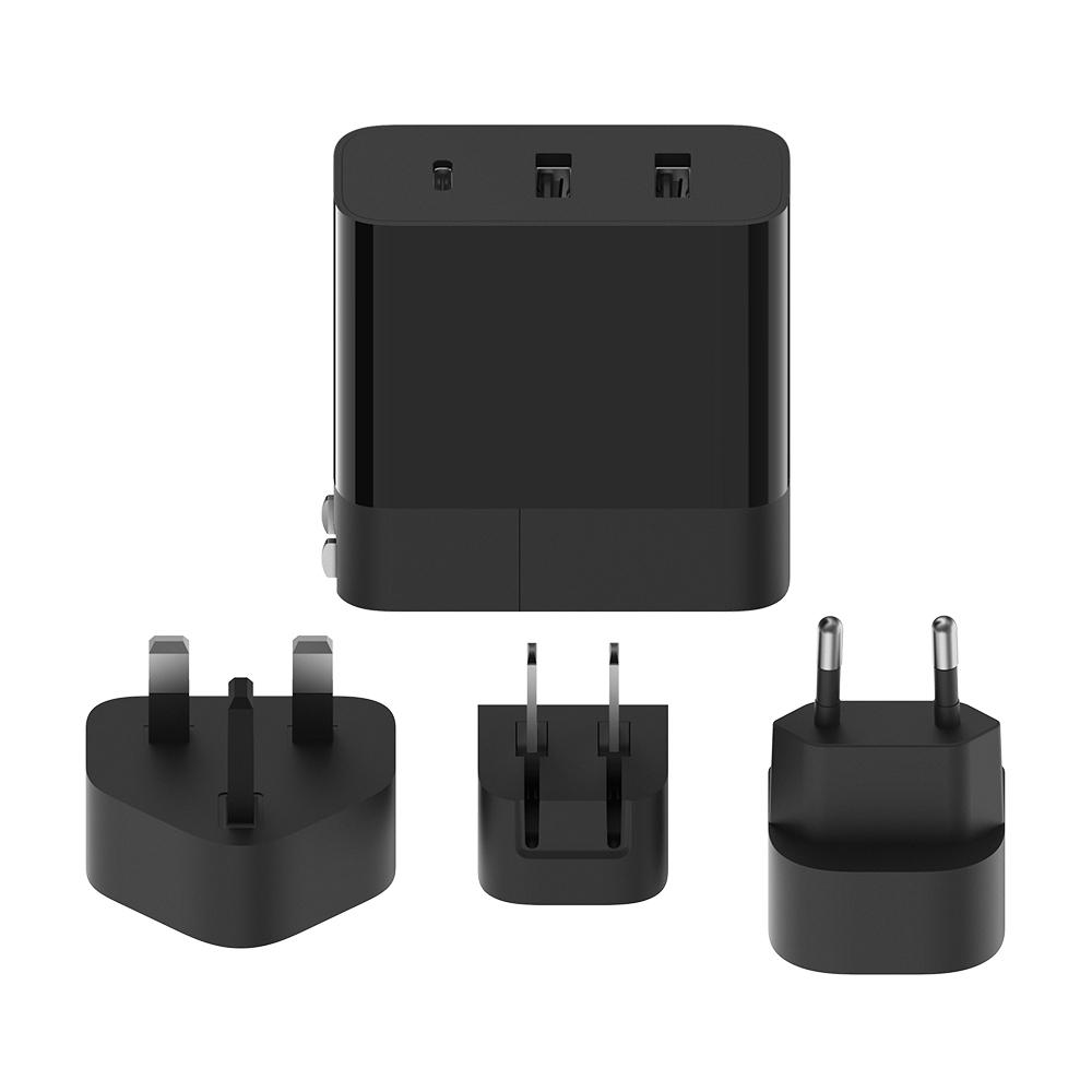 ZMI紫米|HA833 65W PD三孔快充電器國際旅行套組 (含轉接頭) 黑色