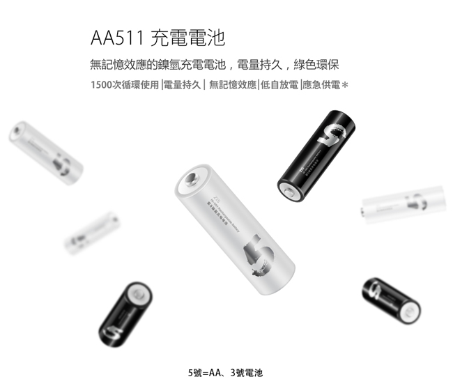 ZMI紫米| 紫米3號鎳氫充電電池AA512 (4入)