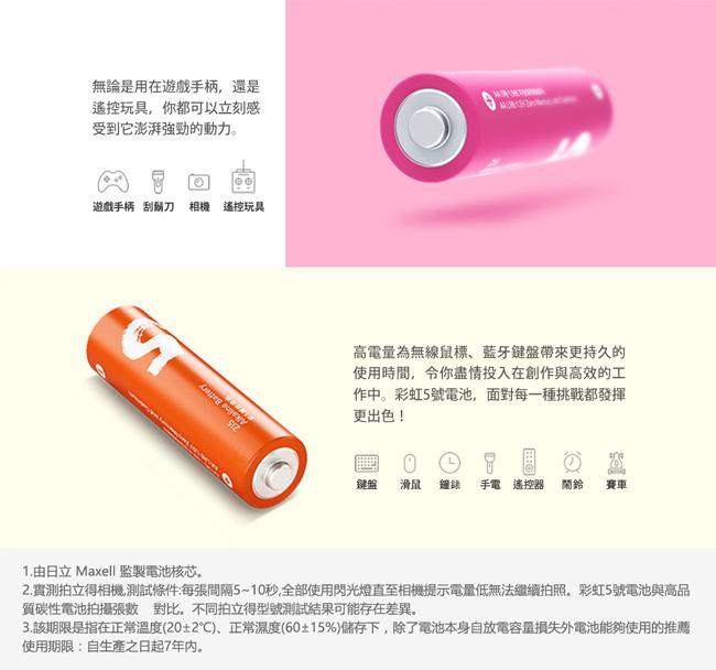 ZMI紫米 ZMI 紫米 3號彩虹鹼性電池 AA524 (24入)