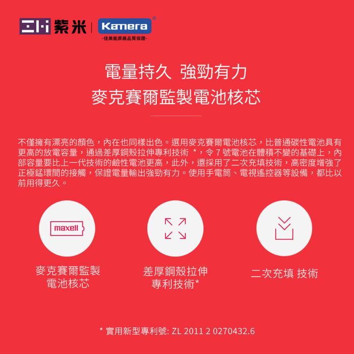 ZMI紫米|鹼性 4號AAA電池AA701 (10入)-二入組