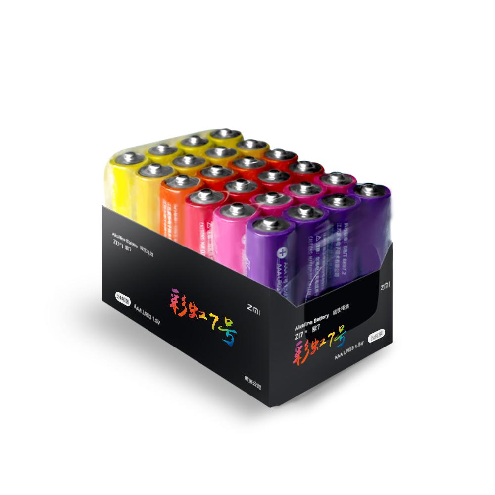 ZMI紫米|4號彩虹鹼性電池 AA724 (24入)-二入組