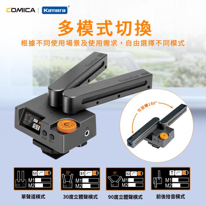 ZMI紫米 COMICA TraxShot 多功能變形槍式麥克風