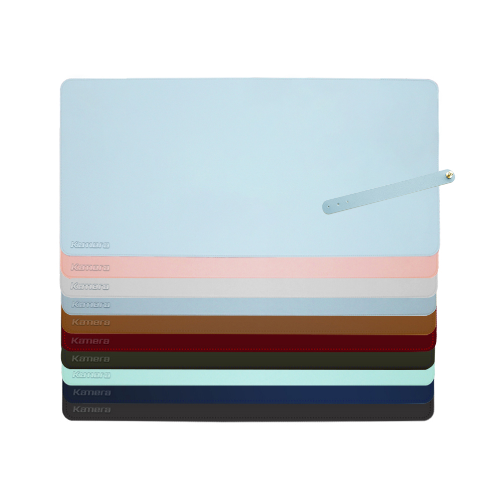Kamera|質感素色 防水防滑皮革桌墊