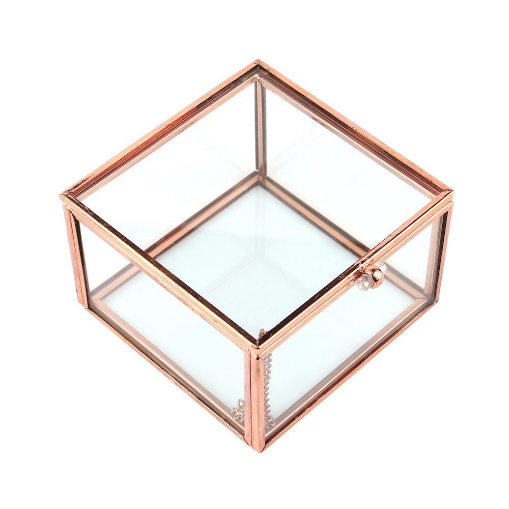 目喜生活 | 玫瑰金復古玻璃收納盒