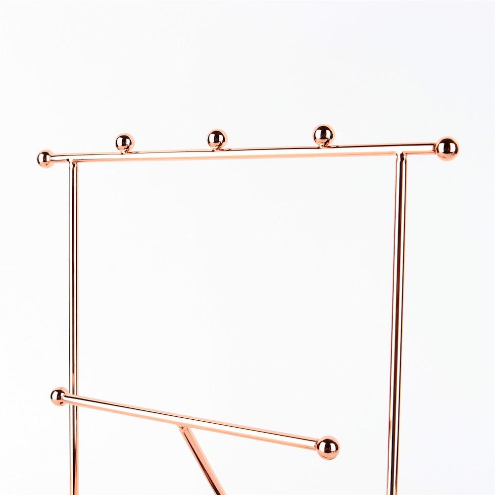 目喜生活|玫瑰金三角鏡面飾品掛架