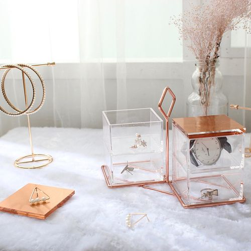 目喜生活 | 飾品小物壓克力收納盒四格手提款