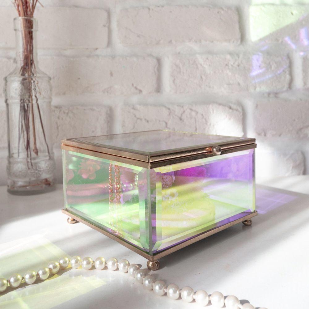 目喜生活   歐若拉極光玻璃盒立方款