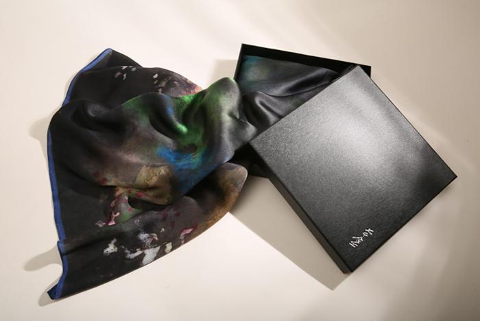 (複製)拾藝術|張大千 秋山飛瀑絲巾
