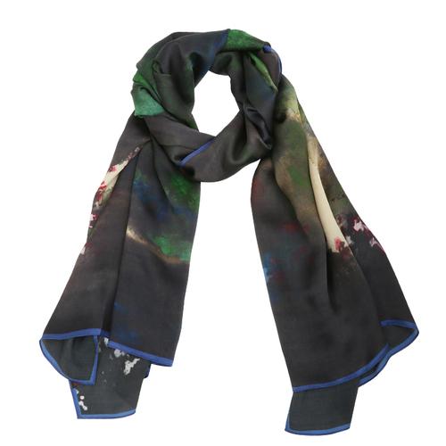 拾藝術|張大千 山嵐絲巾