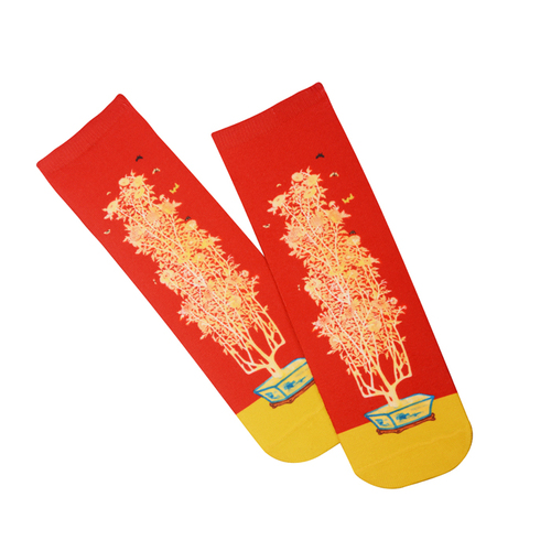 拾藝術|史博文創 常玉 菊 直筒襪