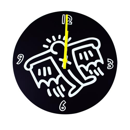 拾藝術 凱斯哈林 時鐘(黑)