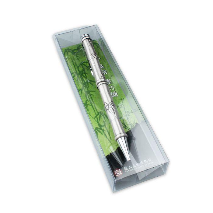 故宮精品|竹子浮雕金屬原子筆