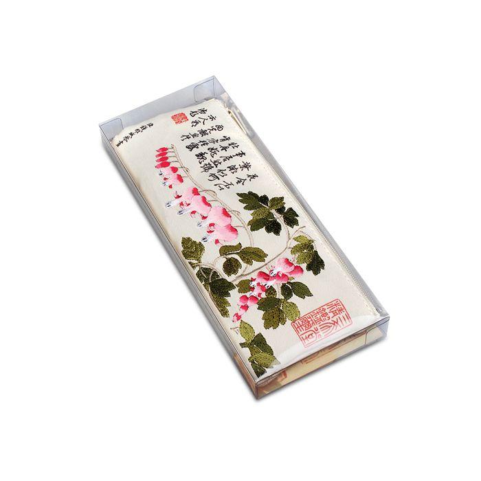 故宮精品|故宮魚兒牡丹書香筆袋