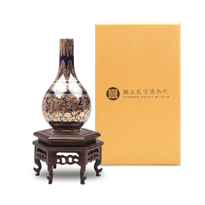 故宮精品|迷你瓷器 ─ 洋彩金番花膽瓶