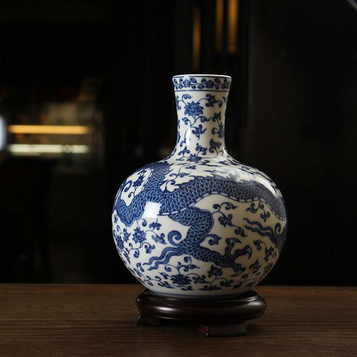 故宮精品|青花龍紋天球瓶小