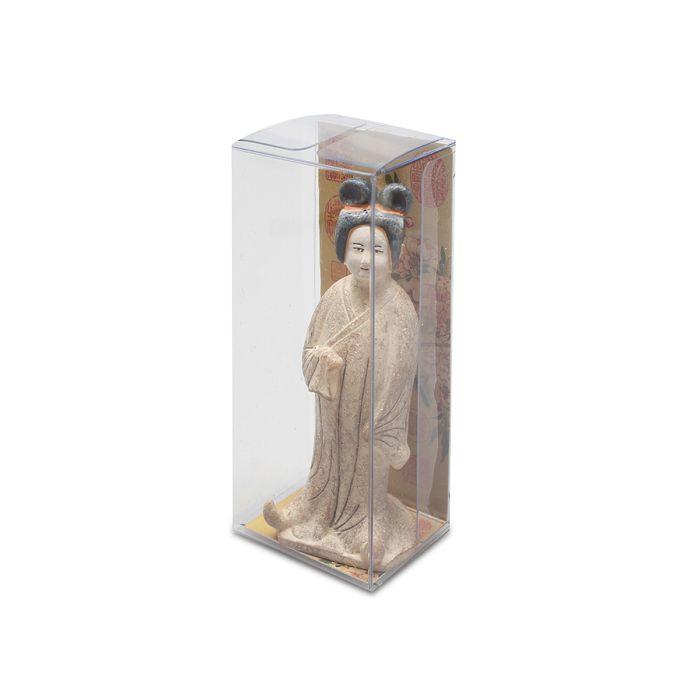 故宮精品|唐灰陶加彩仕女俑