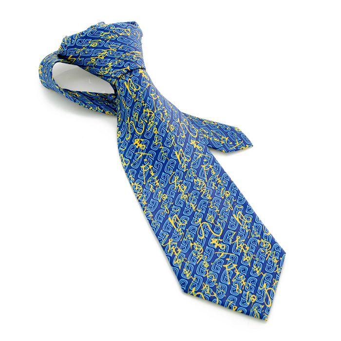 故宮精品 懷素 自敘帖領帶 (藍)