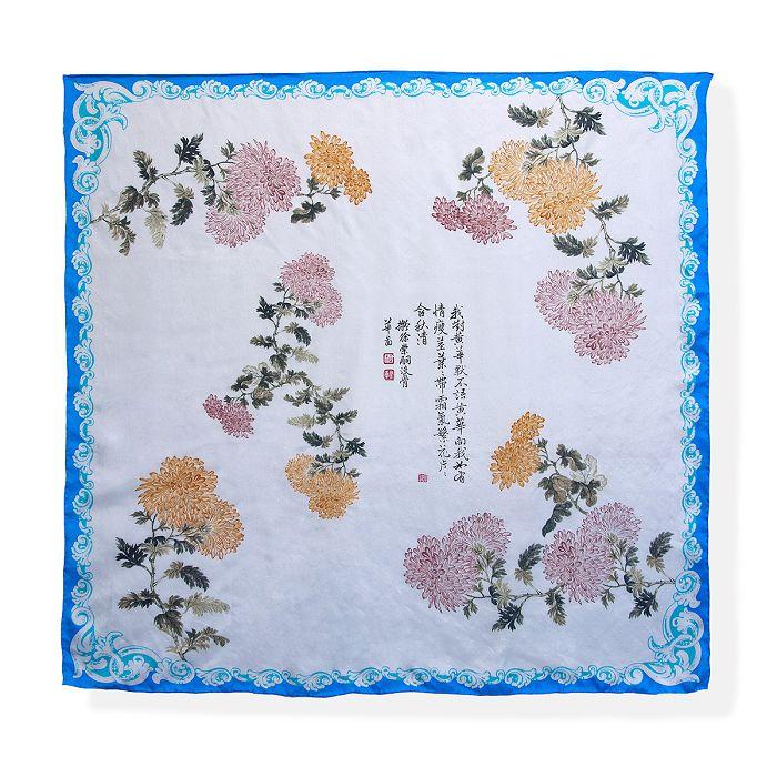 故宮精品|菊花絲巾 - 天藍