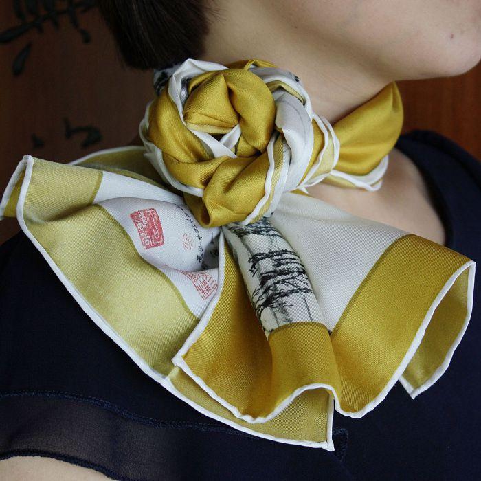 (複製)故宮精品|菊花絲巾 - 天藍